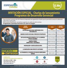 Charlas de Lanzamiento diplomados y cursos de educación continuada. Participa con #EANL3.