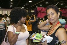 Check out all of the booths at the World Natural Hair Show!