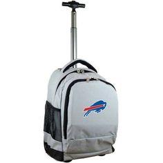Mojo Licensing Premium Wheeled Backpack - Bufallo Bills, Gray