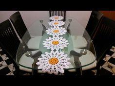 Margaritas en camino de mesa#3 en crochet - YouTube