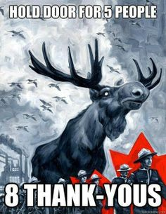 Moose Overlord of Canada Canadian Things, I Am Canadian, Canadian Girls, Canadian Humour, Canadian History, Funny Canadian Memes, Canada Funny, Canada Eh, Canada Jokes
