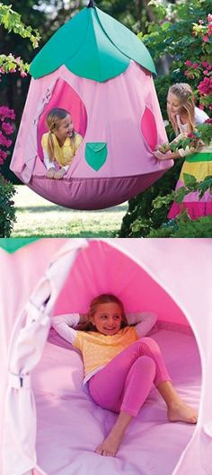 I NEED THIS! Hanging hide out pod.
