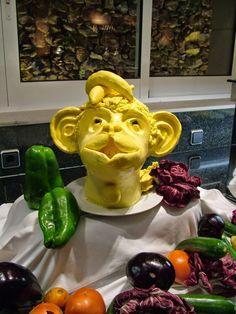 dicas e truques na cozinha : macaco feito em manteiga - monkey made into butt...