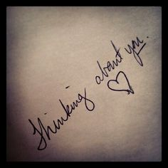 My note for my love.