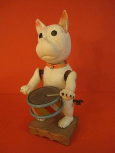 KS Bozo Drummer Dog Celluloid Japan 1930