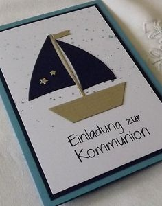 Einladungskarten - Einladung Konfirmation Kommunion - ein Designerstück von LiebeGruesse bei DaWanda