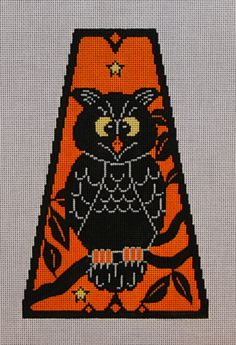 Vintage Halloween Panel-Owl 18 mesh 5x8 in.  Reg. $81, Trunk Show $64.80