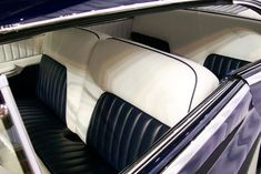 hot rod upholstry | This custom tuck and roll job is both simple and unique! I love its ...