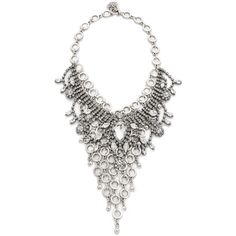 Laura Cantu Embellished Bib Necklace ($190) ❤ liked on Polyvore featuring women's fashion, jewelry, necklaces, bib statement necklace, statement necklace, bib jewelry and bib necklace