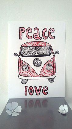 Affiche Illustration van volkswagen