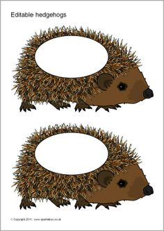 Editable hedgehog templates (SB5705) - SparkleBox