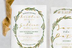 Elegant Wreath Wedding Invitation - Invitations - 1