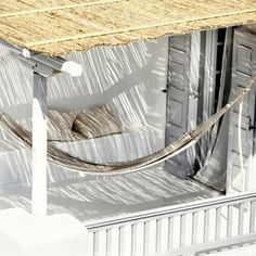 veranda met hangmat | San Giorgio Designhotel Mykonos