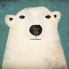 Polar Bear Art Print by Ryan Fowler at Art.com