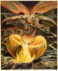 BLAKE, William (1757–1827) The Great Red Dragon and the Woman Clothed with the Sun 1805-1810 Watercolour, 40 × 32.5 cm National Gallery of Art, Washington D.C.
