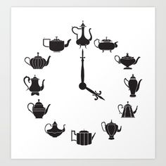 Tea Time Art Print by Kate Anthony. Worldwide shipping available at Society6.com. Just one of millions of high quality products available.