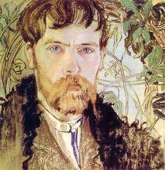 Wyspianski, Stanislaw - 1902 Self-Portrait (National Museum, Warsaw, Poland) Classic Artwork, Drame, Plant Drawing, National Museum, New Artists, Art Forms, Art History, Poland, Graphic Art