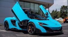 Fistral Blue McLaren Spider Is The Most Stunning Thing You'll See All… Mclaren 675lt, Slr Mclaren, Koenigsegg, Supercars, Maclaren Cars, Mclaren Sports Car, Cheap Sports Cars, Best Luxury Cars, Sweet Cars