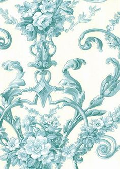 Pattern: 4415E0610 :: Book: Stroheim and Romann Aqua :: Wallpaper Wholesaler
