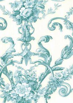 Pattern: 4415E0610 :: Book: Stroheim and Romann Aqua :: Wallpaper Wholesaler