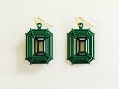 A Modern design in Handmade Jewelry. .    https://www.etsy.com/listing/236022247/3d-printed-forever-emerald-earrings-by