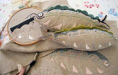 fabric fish stitched