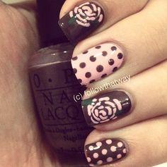 Polka dots & roses