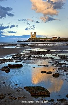Reculver Towers and Roman Fort, Reculver, Kent, UK