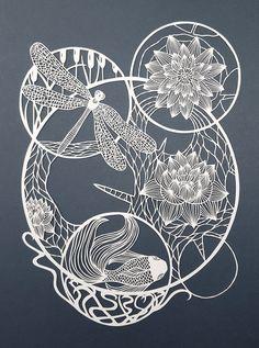 Pippa Dyrlaga gebruikt alleen een potlood en een scalpel om haar papierkunstwerken te creëren. Negen jaar geleden kwam ze tijdens een papiercursus voor het