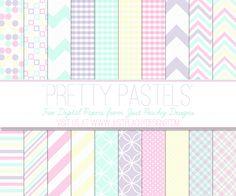 Free Pastel Digital Paper #easter  #scrapbooking