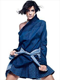 Embellished Denim Editorials : Nada Basico Vogue Brazil