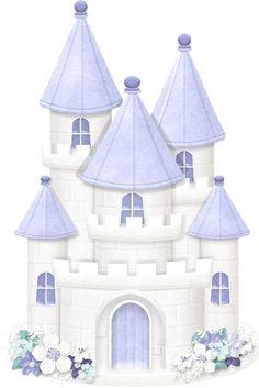 "Photo from album ""Snow Princess"" on Yandex. Princess Castle, Princess Party, Castle Crafts, Castle Illustration, Princess Cookies, Christmas Background, Felt Toys, Scrapbook Albums, Cute Cartoon"