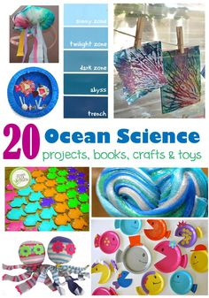 Discover More Ocean Science for Kids is part of Kids Crafts Ocean Learning - Learn more about ocean science with these fun and educational activities! Ocean science experiments and videos for kids Sea Activities, Science Activities For Kids, Science Experiments, Vocabulary Activities, Science Fair, Under The Sea Crafts, Under The Sea Theme, Green Crafts For Kids, Kid Crafts