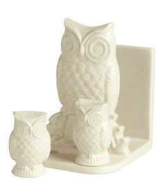 Owl Napkin Holder & Shakers Set