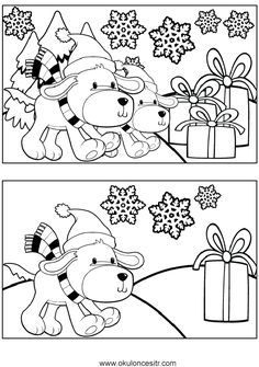 Köpek Aradaki Farkı Bul Sayfası Find the 7 differences puzzle sheets between the two images and find the difference between the worksheets to your computer and print from the printer, print out. Free find the difference worksheets printables. Preschool Worksheets, Preschool Learning, Preschool Activities, Teaching Kids, Find The Difference Pictures, Study Helper, Hidden Picture Puzzles, Kindergarten Drawing, Sudoku