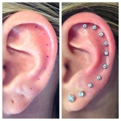 Earlobe and helix piercings by @ with Alex Couchman # . - Pinspace - Earlobe and helix piercings by @ with Alex Couchman # … – # - Helix Piercings, Guys Ear Piercings, Piercing Face, Ear Peircings, Tattoo Und Piercing, Multiple Ear Piercings, Unique Piercings, Helix Piercing Jewelry, Tongue Piercings