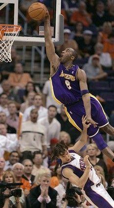 kobe bryant slam dunk on nash   Kobe Dunking