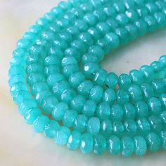 6x4mm Rondelle Beads  Jewelry Making Supplies by funkyprettybeads