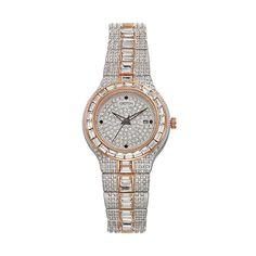 Croton Women's Austrian Crystal Two Tone Watch - CN207540TTPV, multicolor