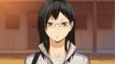 Kiyoko Shimizu (Japanese: 清水潔子 Shimizu Kiyoko) is one of the managers of the Karasuno High volleyball club. Kiyoko has been noted by male students and Yachi to have an attractive appearance. She has dark black hair that falls just a little below her shoulders and a distinctive mole on the lower left side of her chin. She wears glasses and has gray eyes.