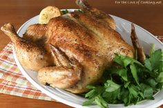 My daughter came home from school not feeling well today so it was a good thing I was roasting a chicken for dinner - the ultimate comfort food. I slow roasted Whole Roasted Chicken, Stuffed Whole Chicken, Garlic Chicken, House Salad, Slow Roast, Roasted Garlic, Food Network Recipes, Food Print, Chicken Recipes