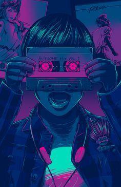 Resultado de imagen para 80s illustration design wallpaper pinterest