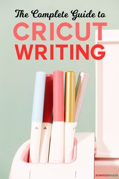 Write with Cricut Explore & Cricut Maker using pens! Includes directions on how to address envelopes and invitations with the Cricut Calligraphy Pen + Other Pens Tutorial | #Cricut