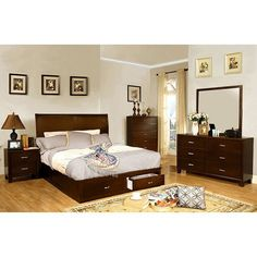 Furniture Of America Enrico V 4 Piece Bedroom Set Las Vegas Furniture Online | LasVegasFurnitureOnline | Lasvegasfurnitureonline.com