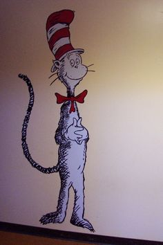 "The Cat in the Hat   72"" x 36""    Location: Village Elementary School, Round Lake, IL"
