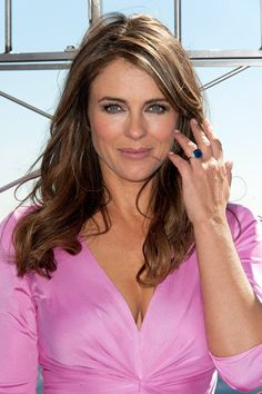 The couple: Elizabeth Hurley and Shane Warne The ring: An approximately 9-carat center blue sapphire with diamonds on the side set in platinum