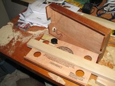 Cigar Box Guitar with pickup installed