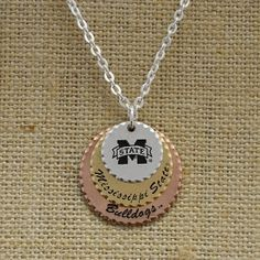 mississippi state cowbell necklace