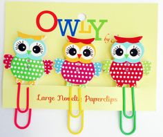 JennGifts - Owl Large Paperclips, £2.00 (http://jenngifts.co.uk/owl-large-paperclips/)
