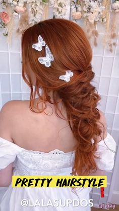 Hairdo For Long Hair, Easy Hairstyles For Long Hair, Pretty Hairstyles, Braided Hairstyles, Wedding Hair And Makeup, Hair Makeup, Bridal Hair, Hair Wedding, Boho Wedding